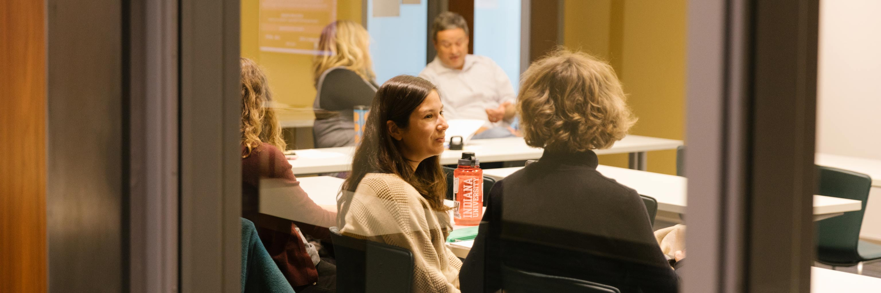 Spanish and Portuguese faculty interact with students in the classroom