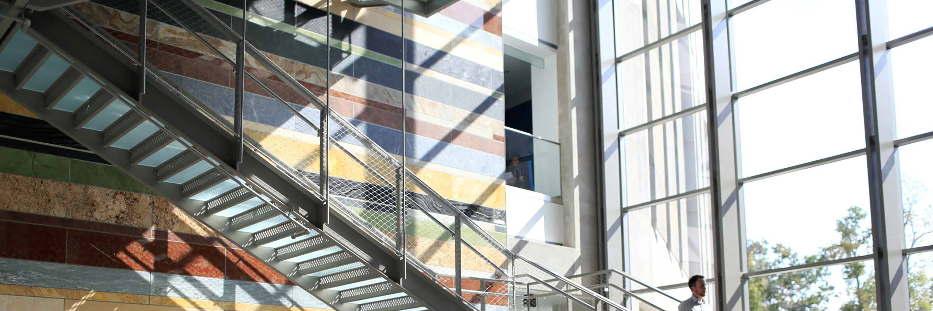 Staircase in the Global and International Studies Building
